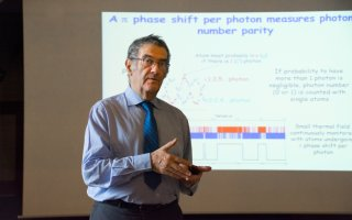 Nobel Prize winner in physics was giving a lecture at Matfyz