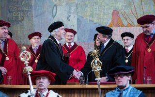 Prof. Heuer received Honorary Doctorate at Charles University